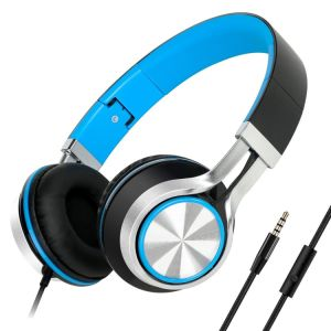 Headphones with Microphone Lightweight Folding Stereo Earphones for iPhone pictures & photos