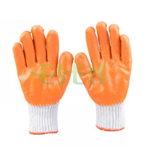 Best Personal Protective Cotton Knitted with Coated Palm Safety Gloves (D14-H1)