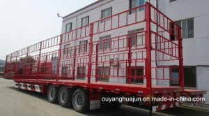 17.5 Meters Flatbed Semi Trailer with 2.6 M Warehouse Column
