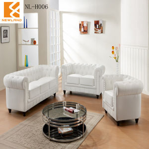 Newland Furniture Classical Leather Sofa (NL-H006)