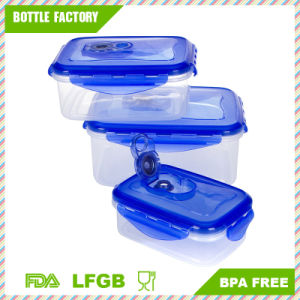 China 3 in 1 Set Airproof Food Storage Container Locking Lids Food