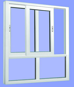High Impacted Economical Plastic UPVC Sliding Window with Double Glazing Modern Design