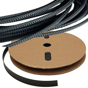 China Black Expandable Braided Sleeving Auto Wire Harness Cover ...