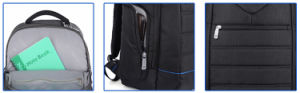 Modern and Fashion Waterproof Laptop School Backpack Bag pictures & photos