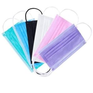 Disposable Face Mask with Ear Loop Multi Color Non Woven Face Mask