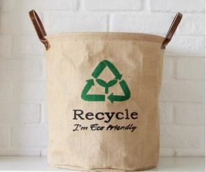 Hot Sell Recycle Rounded Jute Storage Bag