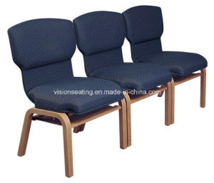 Wooden Stackable Padded Church Worship Pew Seating (4103)