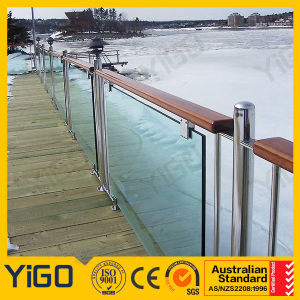 China Frameless Glass Balcony Railings Modern Stainless Steel