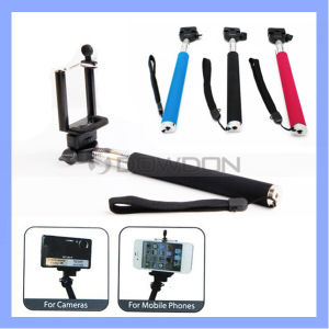 Low Price Bluetooth WiFi Control Fold Extendable Handheld Monopod Selfie Stick for Mobile Phone pictures & photos
