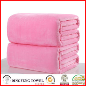 Super Soft Coral Fleece Solid Color Blanket Df-9935 pictures & photos