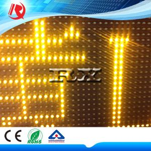 Clear Pixel Yellow Color Advertising P10 LED Display Module pictures & photos