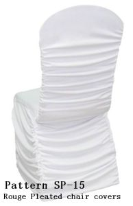 Rouge Pleated Spandex Chair Covers