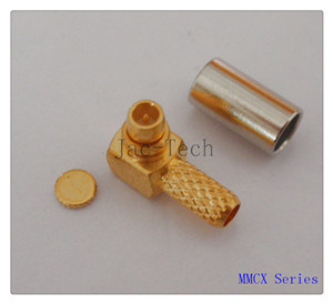 MMCX Male Right Angle Crimp for Rg316 Cable (MMCX-JWC-1.5)
