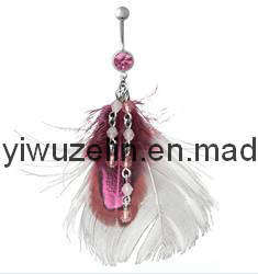 Feather Styles Belly Button Ring (AC45)