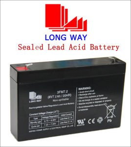 6volt7.2ah Emergency Lighting Rechargeable Sealed Lead Acid SLA Battery pictures & photos