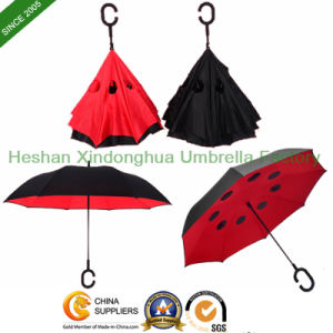 New Items Innovative Hands-Free Straight Reverse Inverted Umbrella (SU-0023FI) pictures & photos