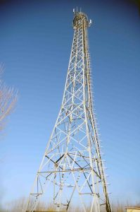 Multi Height Tubular Telecom Tower with Accessories