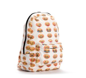 Women Teenages Canvas Leisure Emoji Backpack pictures & photos
