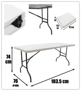Convenient Folding Meeting Plastic Table pictures & photos