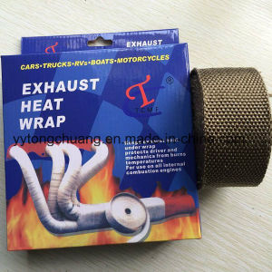 "Titanium 2""X50FT Exhaust Header Insulating Wrap for Car and Motorcycle pictures & photos"