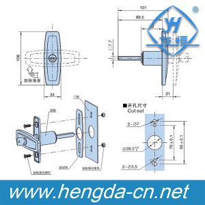 Industrial Door Handles Metal Cabinet Handle and Electrical Panel Handle Locks (YH9683) pictures & photos