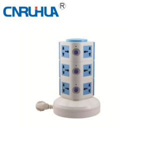 New Arrivel Low Price Household Three-Layer 12-Way Vertical Floor Socket pictures & photos