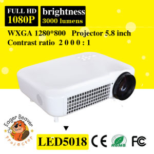 1280*800 Support 720p/1080P 200W 3000 Lumens Video Projector