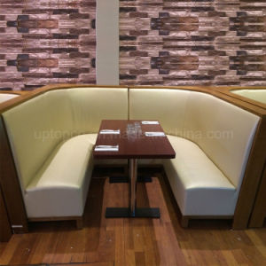 China Commercial Wood Frame Restaurant Furniture Curved Booth And - Round booth table