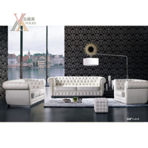 White Leather Sofa Set (S38)