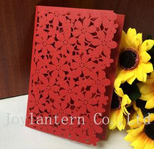 Creative Design Red Flower Lace Invitations Europe Wedding Invitation Card
