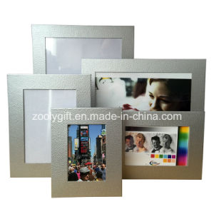 Silvery Textured Art Paper Photo Frame Promotional Gift Frames pictures & photos