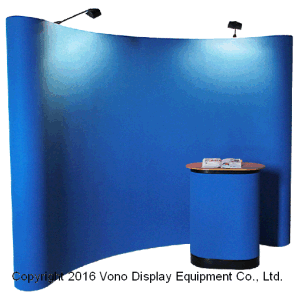 Pop up Stand Display with Magic Tape Fabric Portable Counter
