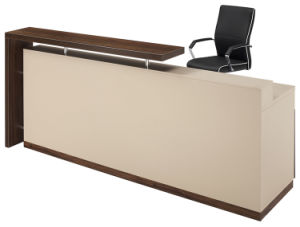 Melamine Chipboard Modern Office Furniture Reception Counter Table