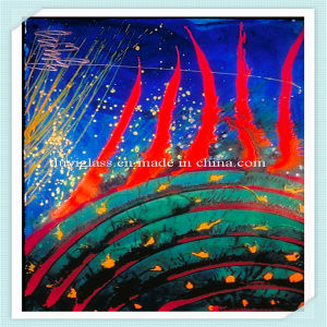 Multicolour Glass Wall Painting for Decoration