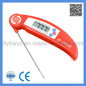 Food Meat Thermometer Digital Thermometer for Cooking Kitchen BBQ with Folding Probe Red pictures & photos