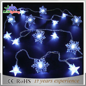 Battery Operated 6m Snowflake Shape LED Fairy Light Indoor Use
