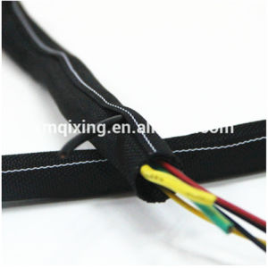 RoHS Black Woven Wraparound Cable Sleeve for Management pictures & photos