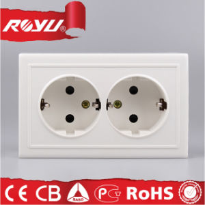 Hot Sell CB European Double Schuko Socket Outlet pictures & photos