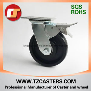 Swivel Caster with Brake Nylon Wheel with Ball Bearing