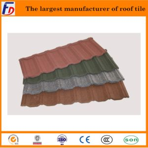 Classical Type Stone Coated Metal Roof Tile in Fuda