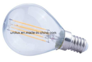 Dimmable P45 4W 400lm E14 LED Filament LED Bulb with CE RoHS Aproved
