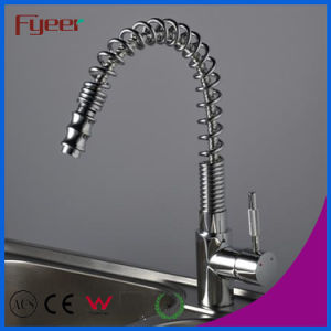 Nickle Brushed Pull out Kitchen Sink Faucet (QH0781S) pictures & photos