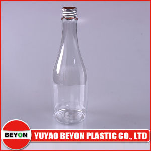 450ml Wine Bottle Shaped Plastic Pet Bottle with Aluminium Screw Cap