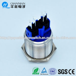 Qn22-B3 22mm Momentary|Latching High Concave Head Pin Terminal Metal Push Button Switch pictures & photos