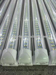 High Lumen LED T8 Tube Light 65W Integrated Tube Lamp 2400mm 8FT Double Line Tube Lighting Hot Jizz Tube pictures & photos