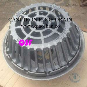 15 12 large sump cast iron roof drain with no hub and push - Roof Drain