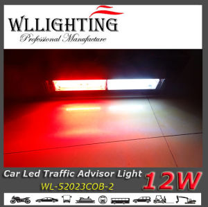 Red White Auto Traffic Warning Light Bar 12W