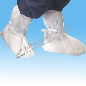 Disposable Nonwoven Boot Cover with Tie on pictures & photos