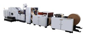 Paper Bag Making Machine with D Handle in Line pictures & photos
