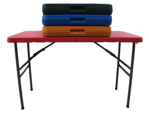 Colorful Plastic 4ft Folding in Half Table